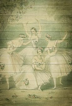 Ballet, On Wood, Vintage, Shabby Chic, Background