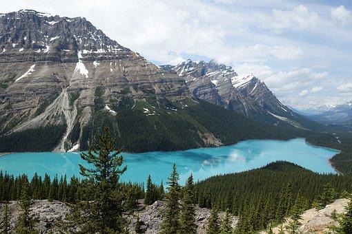 Lake, Jasper, Banff, Nature, Canada, Travel, Landscape