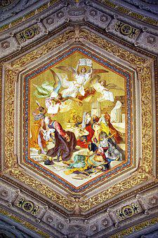 Italy, Rome, Vatican, Museum, Ceiling, Cartridge