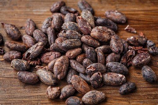 Cacao Bean, Cocoa Bean, Cocoa, Chocolate, Brown, Food