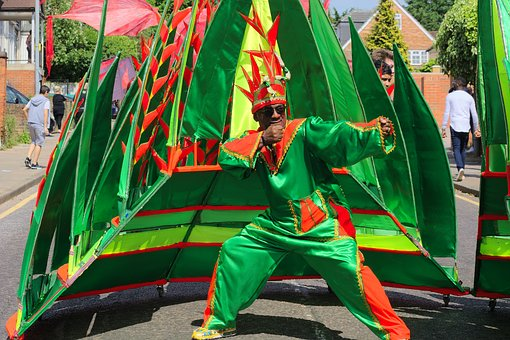 Man, Carnival, Green, Celebration, Costume, Male