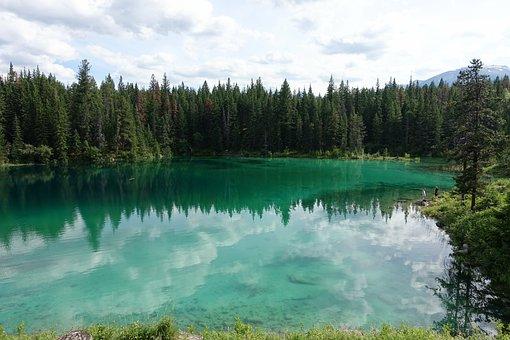 Lake Jasper, Alberta, Canada, Park, Lake, Jasper