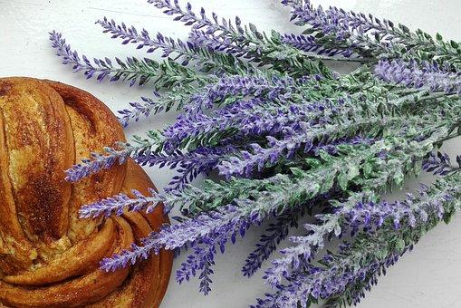 Lavender, Buns, Food, Baking
