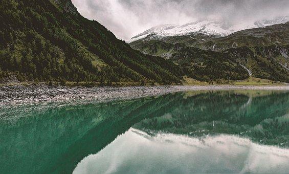 Lake, Bergsee, Alpine, Reservoir, Mirroring