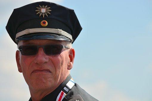 Man, Human, Cop, Police, Hamburg, Uniform, Sunglasses