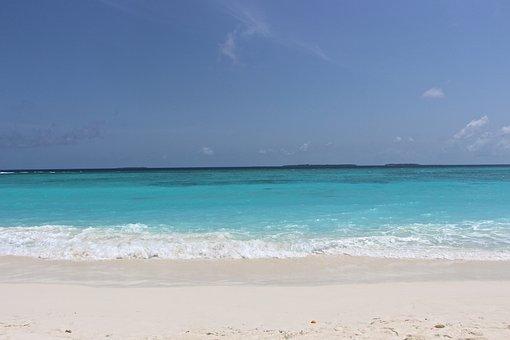 Beach, Sea, Beach Sea, White, Turquoise, Blue