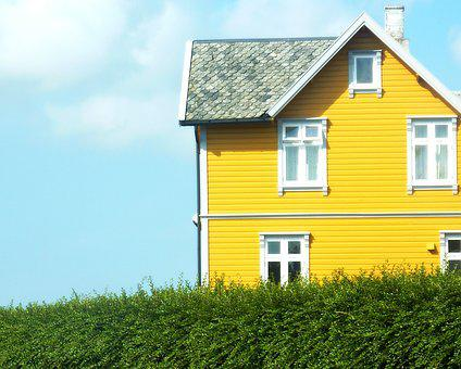 House, The Sky, Trip, Grass