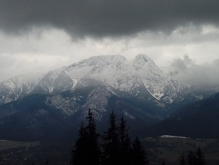 Cloudy Day, Mountains, View, Tatry