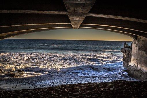 Bridge, Ocean, Malibu, Sea, Water, Travel, Landscape