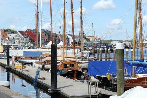 Sailing Boats, Port, Sea, Water, Boats, Sail Masts