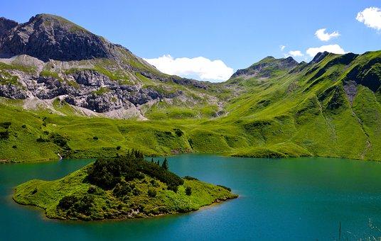 Schrecksee, Allgäu, Hochgebirgssee, Alpine, Lake, Water