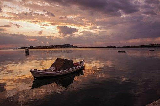 Ayvalýk, Boat, Sunset