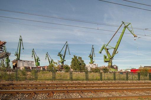 Gdańsk, Cranes, Boatyard