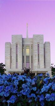 Temple, Utah, Mormon, Building, Architecture, Moroni