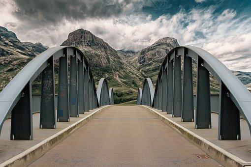 Bridge, Steel, Metal Frame, Construction, Building