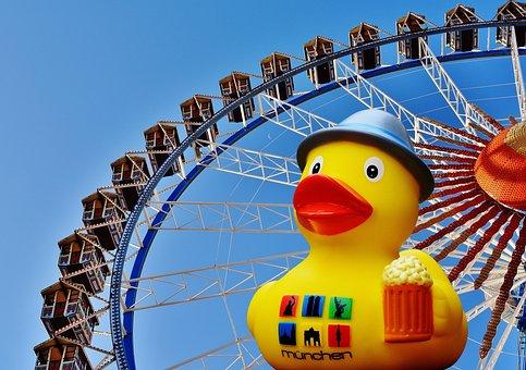 Oktoberfest, Rubber Duck, Funny, Ferris Wheel, Gondolas