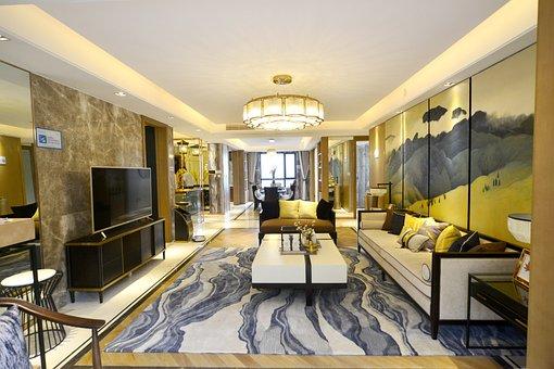 Living Room, Big, Luxurious