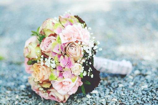 Bridal Bouquet, Bouquet, Romance, Wedding, Marry, Roses