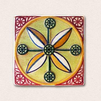 Tile, Mosaic, Colorful