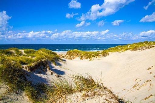 Dune, Sea, Sky, Clouds, North Sea, Sand, Summer