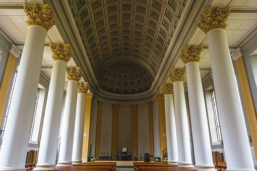 Nave, Columnar, Rees, Church, Assumption, Classical