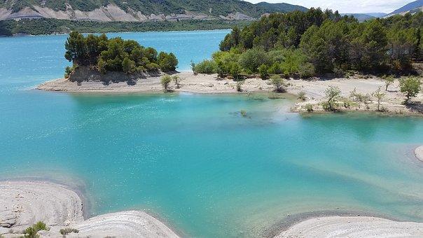 Lake, Reservoir, Turquoise, Water