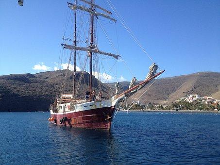 Ship, Tallship, Tall Ship, Sea, Sail, Boat, Nautical
