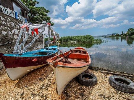 Gölyazı, Scholarship, Lake, Fishing Boats