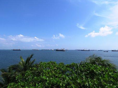 Beach, Island, Singapore, Sentosa, Water, Relax, Resort