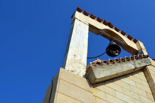 Bell, Church, Blue, Sky