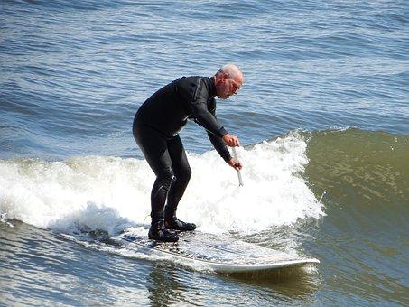 Sea, Surf, Zoom, Scarborough, Sunshine, Sun, Blue
