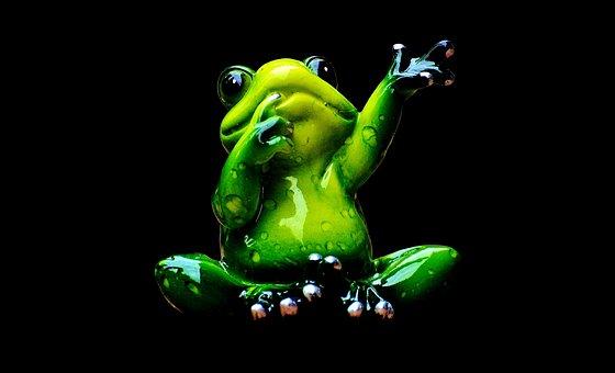 Frog, Figure, Wave, Funny, Cute, Animal, Fun, Sweet