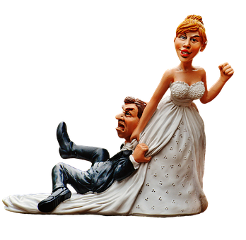Bride And Groom, Bride, Groom, Figures, To Force, White