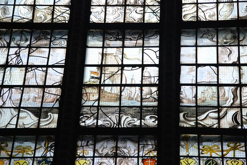 Stained Glass, Glass, Lead, Window, Church, Color