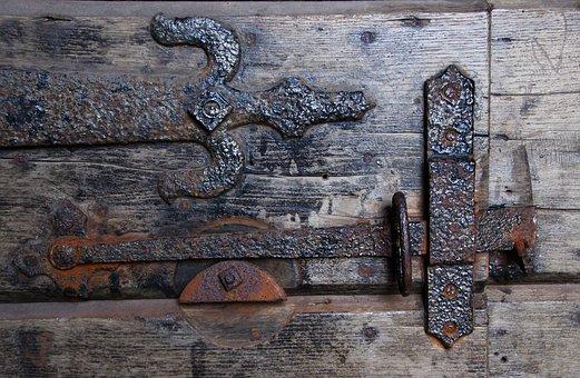 Latch, Door, Wooden, Architecture, Retro, Vintage