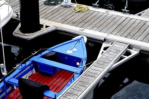 Barca, Mooring, Port, Spring, Moored Boat, Peaceful