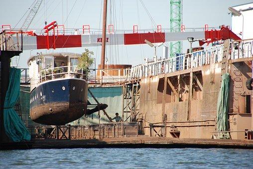 Dock, Scheepsdok, Ship, Boat, Repair, Maintenance