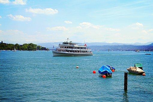 Zurich, Switzerland, Lake Zurich, Lake, Boot, Sun