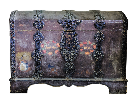 Chest, Old, Ironwork, Treasure Chest, Wooden Chest