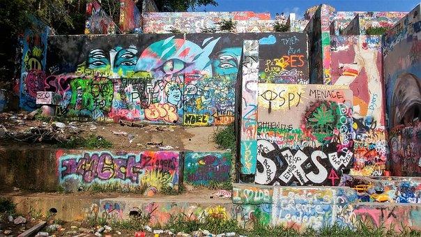 Graffiti Wall, Austin Texas, Austin, Atx, Graffiti