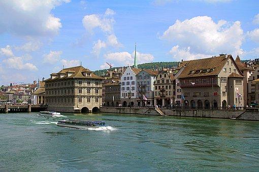 Zurich, Switzerland, St Peter, Old Town, Architecture