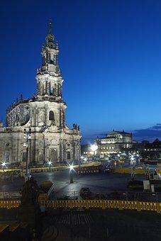 Blue Hour, Dresden, Hofkirche, Mood, Sky, Abendstimmung