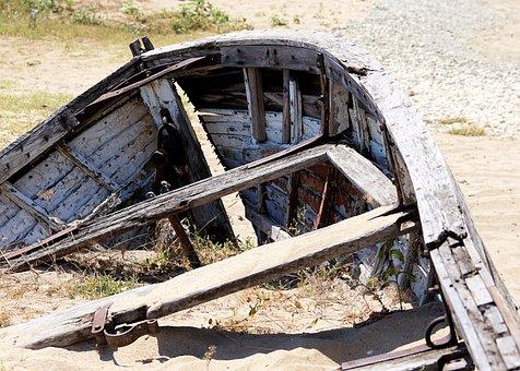 Boot, Old, Wood, Morsch, Broken, Wreck, Old Boat