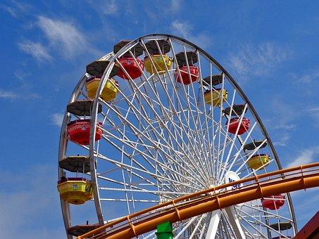 Santa Monica, Pier, Carousel, Las Angeles, California
