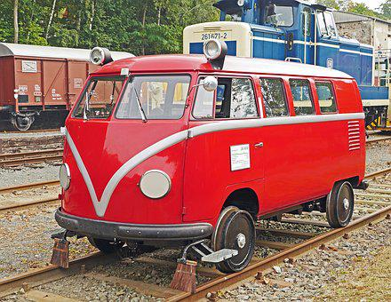 Seemed To Be Bulli, Vw Bus, Service Vehicle, Db