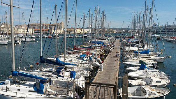 Port, Sète, Wharf, Boats
