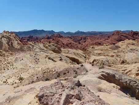 Usa, Nevada, Valley Of Fire, Rock, Black Red Gold