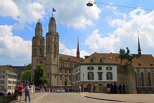 Zurich, Switzerland, Grossmünster, Old Town