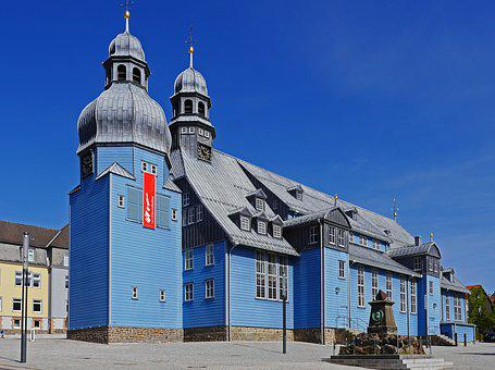 Largest Wooden Church In Germany, Clausthal-zellerfeld