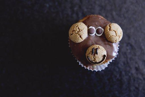 Muffin, Cupcake, Dessert, Monkey, Cake, Sweet, Bake